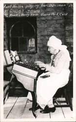 Aunt Nellie playing her Dulcimer. Ghost Town. Knotts Berry Farm