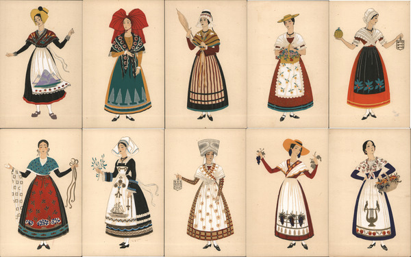 Set of 10: Women Provinces of France