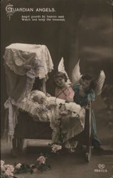 Guardian Angels - Angel guards by Heaven sent - Watch and keep the innocent Postcard