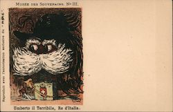 Umberto il Terribile, Re d'Italia (Umberto the Terrible, King of Italy) Postcard
