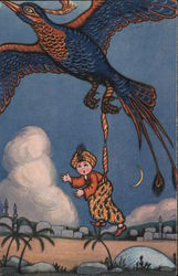 Boy Carried Away By Large Bird