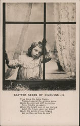 Scatter Seeds of Kindness - Little Girl Looking out a Window