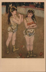 """Two Little Circus Girls"" by Auguste Renoir Postcard"