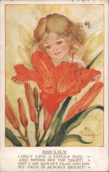 Day-Lily - Fairy with Flower Postcard