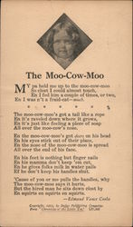 "The Moo-Cow-Moo from ""Chronicles of the Little Tot"" Postcard"