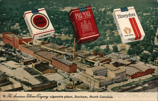 The american Tobacco Company cigarette plant - Lucky Strike, Pall Mall, and Tareyton cLucky Strike, Pall Mall, and Tareytonigarettes