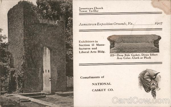 National Casket Company - Jamestown Exposition, 1907 Norfolk Virginia