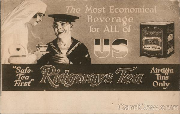 The Most Economical Beverage for ALL of US - Safe-Tea First - Ridgways Tea - Air-tight Tins Only