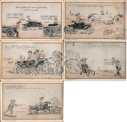 Lot of 5 Ford Comic Advertising Cards