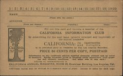 California Information Club Subscription Form