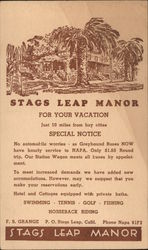 Stags Leap Manor for Your Vacation