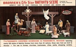 Bronner's Life Size Nativity Scene - Expertly cast of rigid fiberglas for outdoor and indoor use Postcard