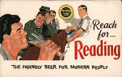 Reach for Reading the friendly beer for modern people Postcard