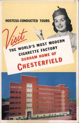 Durham Home of Chesterfield Postcard