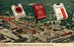 The american Tobacco Company cigarette plant - Lucky Strike, Pall Mall, and Tareyton cLucky Strike, Pall Mall, and Tareytonigarettes Postcard
