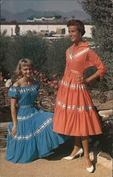 Patio Dresses by Sun Ray of Arizona - In Carefree Cotton Georgette Postcard