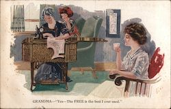 Free Brand Sewing Machines Postcard