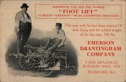 Emerson Brantingham Farm Implements Rockford, IL Postcard