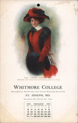 Whitmore College Bookkeeping, Shorthand, and Higher Business Education Postcard