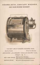 Adams 20th Century Washer - Self Oiling Reverse Movement Postcard
