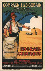 Chemical Fertilizers, Compagnie de Saint-Gobain Postcard