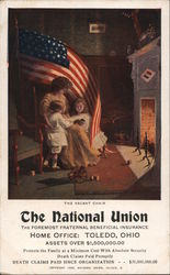 The National Union The Foremost Fraternal Beneficial Insurance Postcard