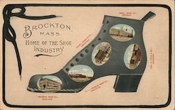 Brockton, Mass. Home of the Shoe Industry Postcard