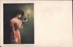 The Lindsay Girl - Copy't 1906, by Lindsay Light Co Postcard