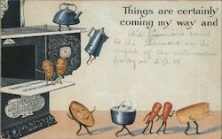 Excelsior Stove & Mfg. Co - Things are certainly coming my way and Postcard