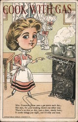 Cook With Gas - Pawtucket Gas Company Postcard