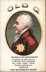 Old Q Cigars - Marquis of Queensbury Postcard