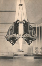 Hanging Cars - World's Fair 1934 Postcard