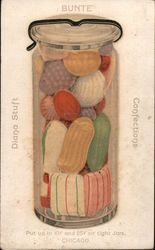 Bunte Confections - Put up in .10 and .25 jars Postcard