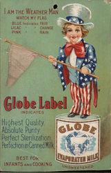 Globe Label Evaporated Milk Postcard