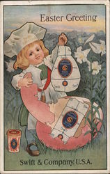 Easter Greeting from Swift & Company, U.S.A. Postcard