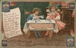 Tea Party with White House Tea, Dwinell-Wright Company Postcard