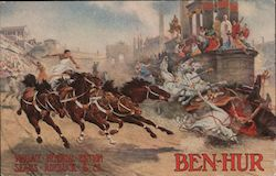 The Chariot Race from Ben-Hur, Book Jacket Postcard
