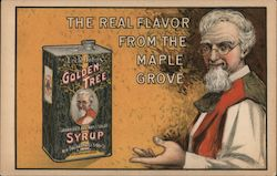 Uncle John's Golden Tree Syrup: The Real Flavor from the Maple Grove Postcard