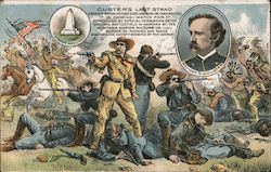 Custer's Last Stand the Movie Postcard