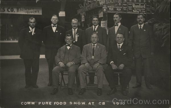Comm Pure Food Show at CB October, 1910 Exposition
