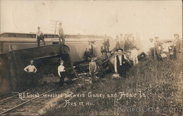 R.I. Wrecked Between Gasey and Adair Aug 17, 1941 Iowa