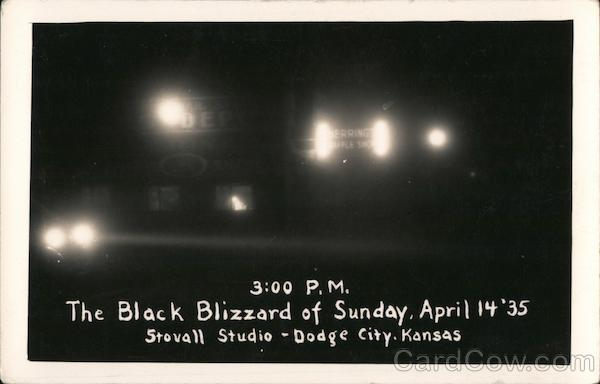 The Black Blizzard of Sunday, April 14 '35 Dodge City Kansas