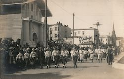 Portola Festival: Mission Dolores, Baseball Players Postcard