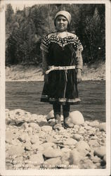 Indian Girl With Elk Tooth Dress Postcard