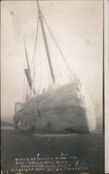 Wreck of S.S. Farallon at High Tide - Jan. 5, 1910