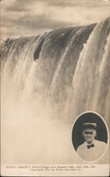 Bobby Leach's Awful Plunge Over Niagara Falls, July 25th 1911 Postcard