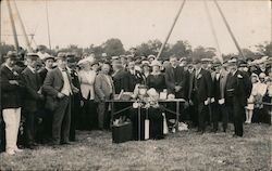 Large Group of People at Ceremony or Event Postcard