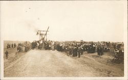 People, Cars, Machinery at Event Postcard