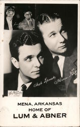 Mena, Arkansas, Home of Lum & Abner Postcard