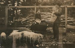 This Little Pig Went to Market Postcard
